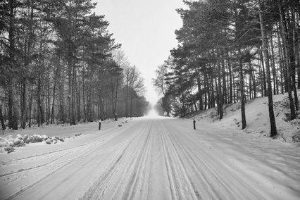 Straße nach Nettelkamp im Winter