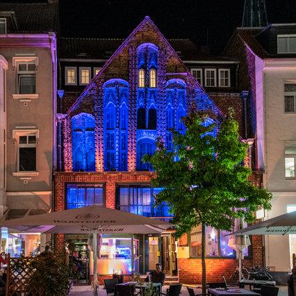 Uelzen: Eventbeleuchtetes Gildehaus