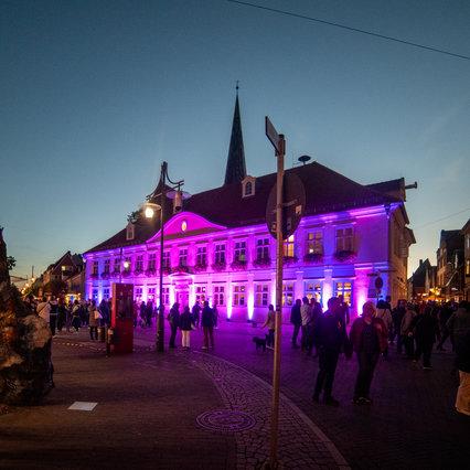 Uelzen: Altes Rathaus eventbeleuchtet